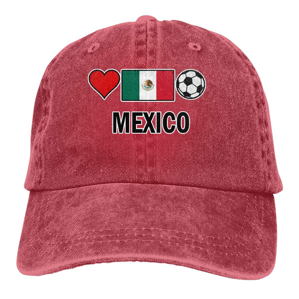 Kunming~ Mexico Football Soccer-1 Men Adult Cap Adjustable Cowboys Hats