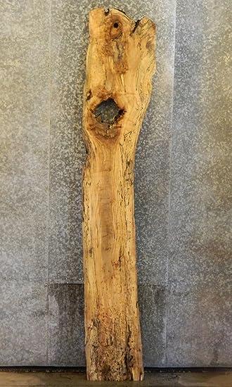 Very Rustic Live Edge Spalted Maple Bar Top/Head/Footboad Slab Y3C9 20295 T