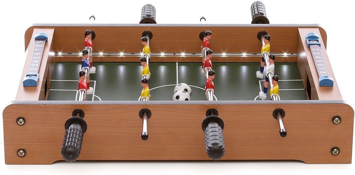 Fútbol Sala futbolín de mesa con Luces LED: Amazon.es: Hogar
