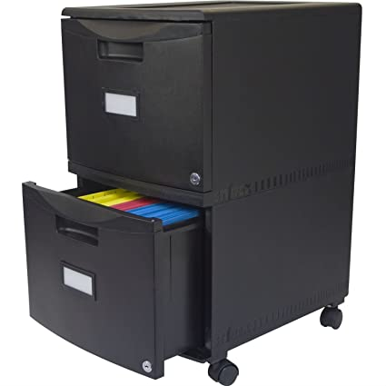 Ordinaire Black 2 Drawer Locking Letter/Legal Size File Cabinet With Casters/Wheels