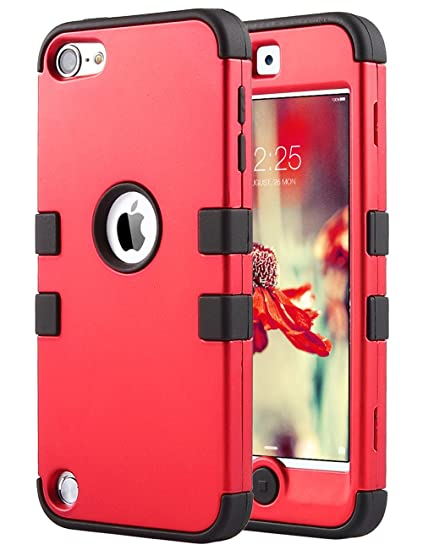 the best attitude 8a757 87017 iPod Touch 6 Case,iPod 6 Cases,6th Case, ULAK Anti Slip Anti-Scratch iPod  Touch Case Shockproof Protective Cover with Hybrid High Soft Silicone +  Hard ...