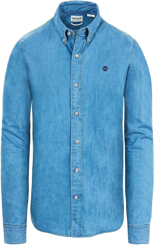 Timberland - Camisa casual - para hombre denim M: Amazon.es: Ropa y accesorios
