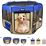 "JESPET Pet Dog Playpens 36"", 45"" & 61"" Portable Soft Dog Exercise Pen Kennel with Carry Bag for Puppy Cats Kittens…"