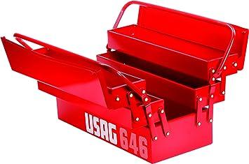 USAG U06460201 - Caja extensible de cinco compartimientos (vacía): Amazon.es: Bricolaje y herramientas