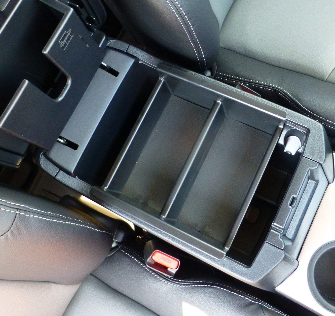 Tray Center Console Divider - Made in USA and Glove Box Organizer Compatible with Toyota 4Runner Vehicle OCD 2010-2021