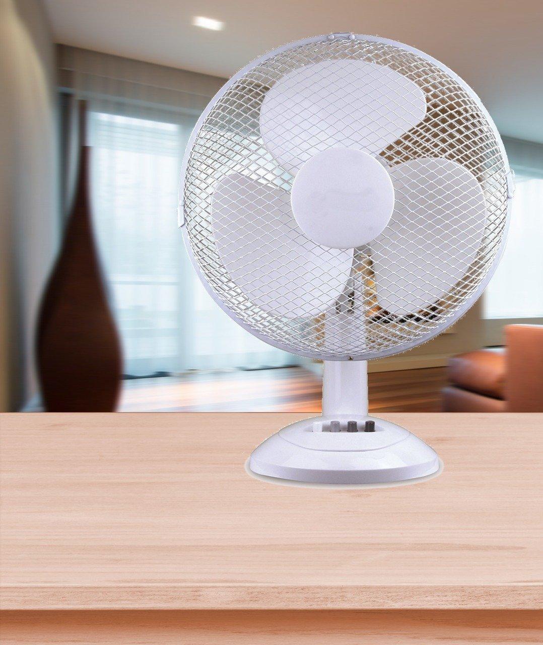 FRX Moderner Ventilator Standventilator Tischventilator Windmaschine Standlü fter (Schwarz)