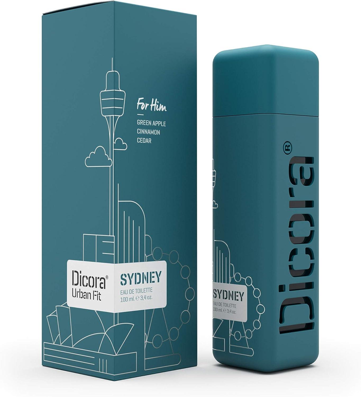 Dicora Urban Fit® Eau de Toilette SYDNEY - 100 ml. 1 ud. Agua de colonia para hombre. Fragancia fresca y frutal