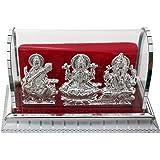 ART N HUB Goddess lakshmi / Laxmi & Lord Ganesha Idol God Statue Gift Item(H-13 CM)