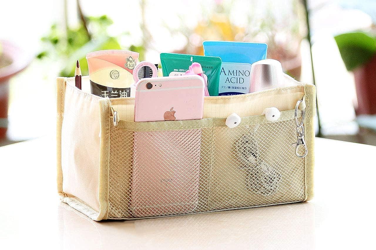 Amazon.com: Vercord Oxford-Cloth Purse Handbag Organizer Insert Cosmetic Makeup Storage Bag In Bag Fit Speedy 25, Beige: Shoes