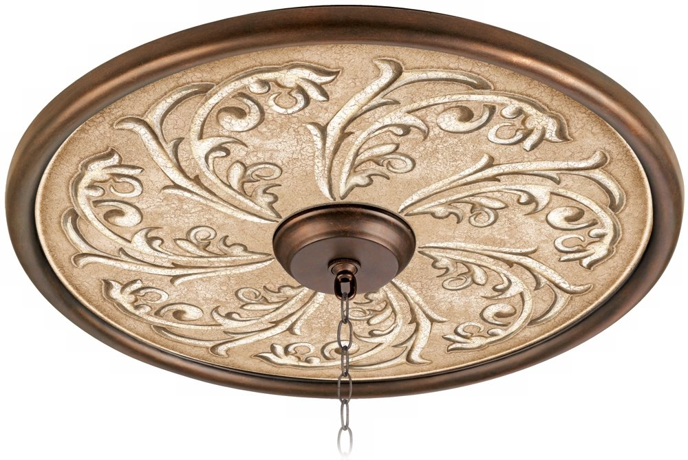 Sarah Ann 24'' Wide Bronze Finish Ceiling Medallion