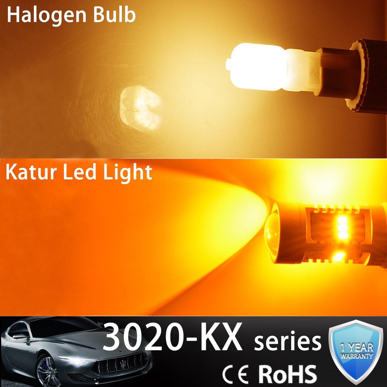KATUR 1800LM Ambra BAU15S 7507 1156PY PY21W Lampadina di ricambio a LED 14SMD CREE 3020 RV Camper SUV MPV Indicatori di direzione della luce del freno di coda confezione da 2