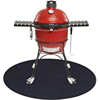 Round Under Grill Splatter Mat, Fireproof Heat Resistant BBQ Gas Grill Garage Cabinet Protective Floor Mat Rug for…