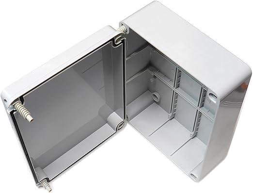 Caja de conexiones con tapa abisagrada (240 x 190 x 90 mm), de ...