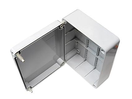 Caja de conexiones con tapa con bisagras puerta magmle 240 mm x 190 x 90 mm