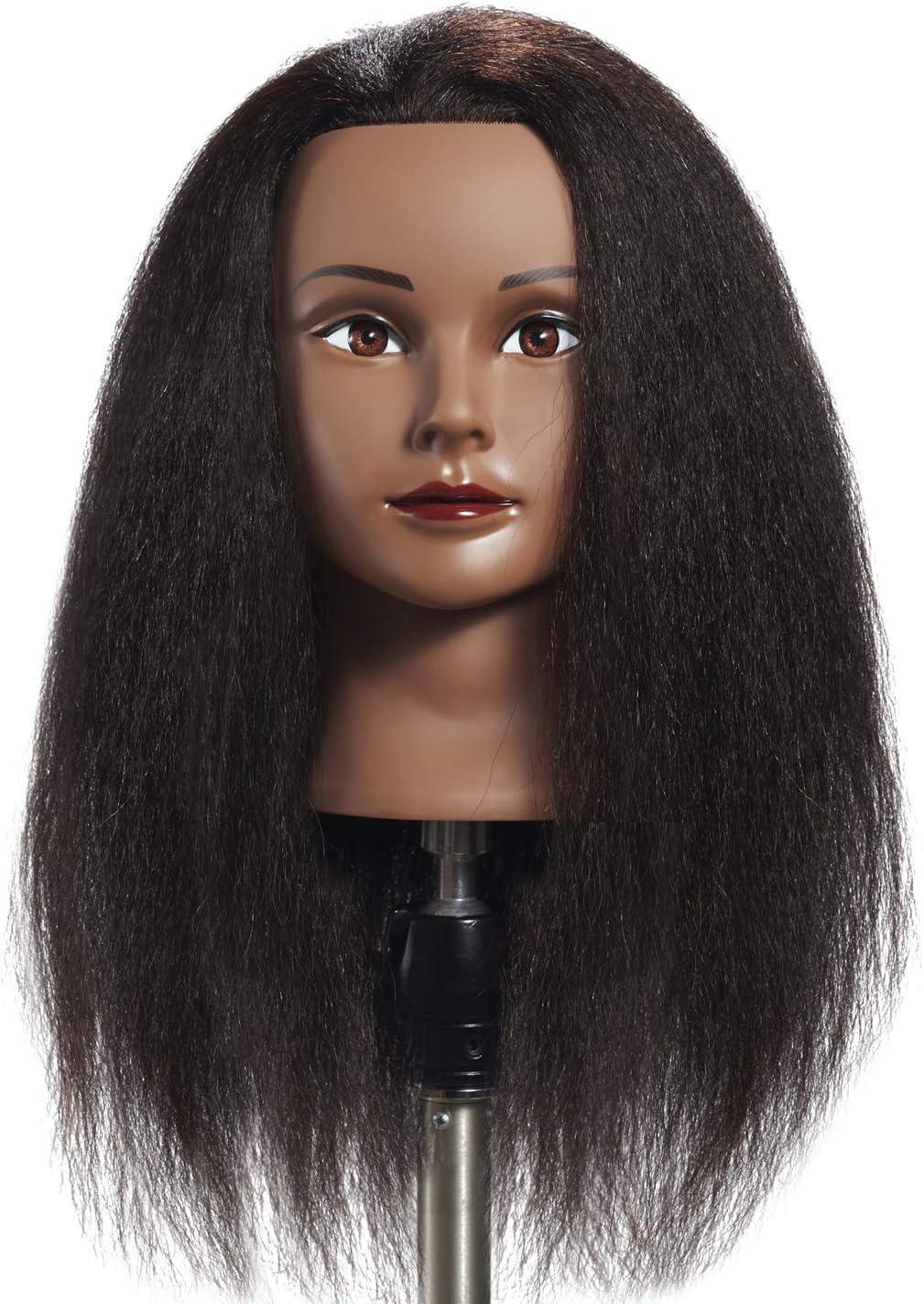 Hairginkgo 100 Real Hair Mannequin Head Hairdresser Training Head Manikin Cosmetology Doll Head 91711b0216 Amazon Ca Beauty