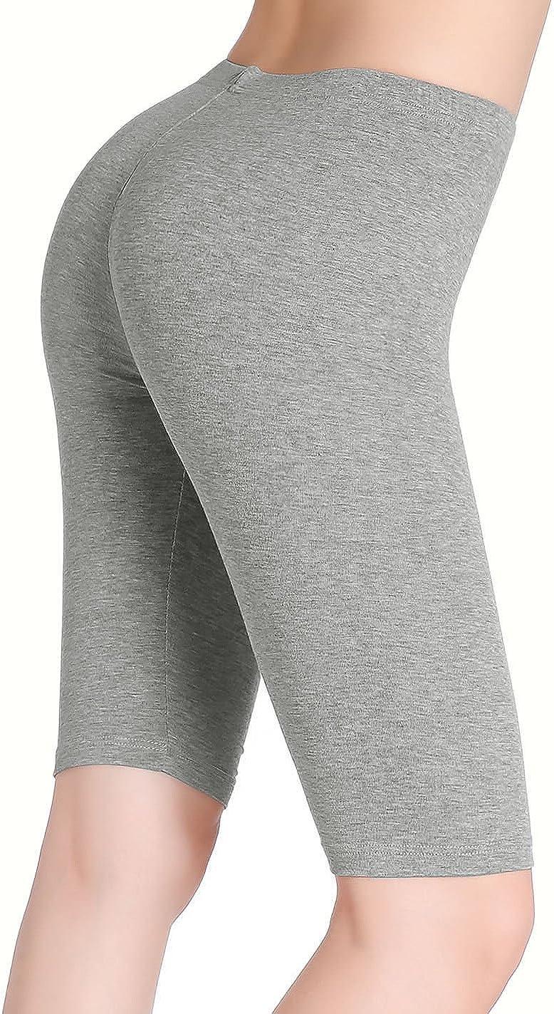 CnlanRow Donna Leggins sopra Il Ginocchio Corti Elasticizzati Pantaloncini sotto Vestiti
