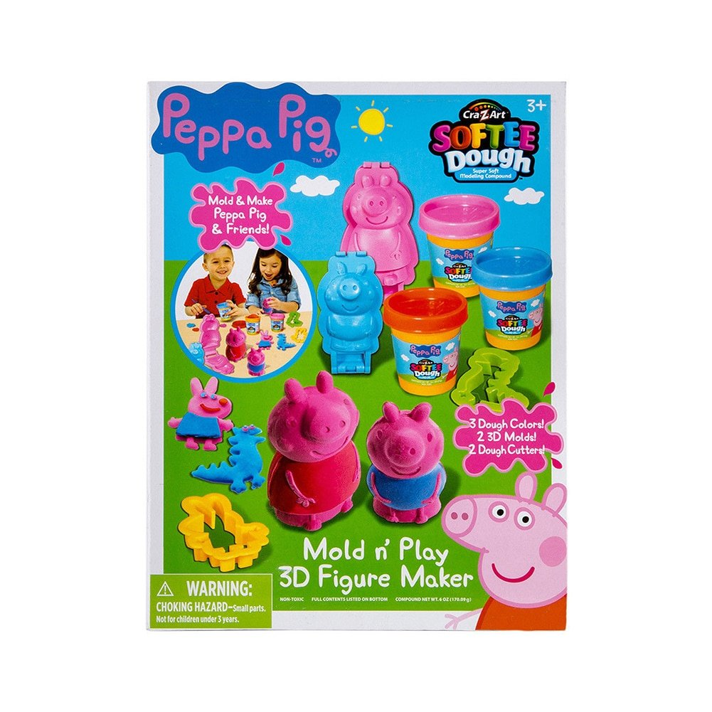 Cra-Z-Art Peppa Pig Softee Dough 3D Figure Maker 21050