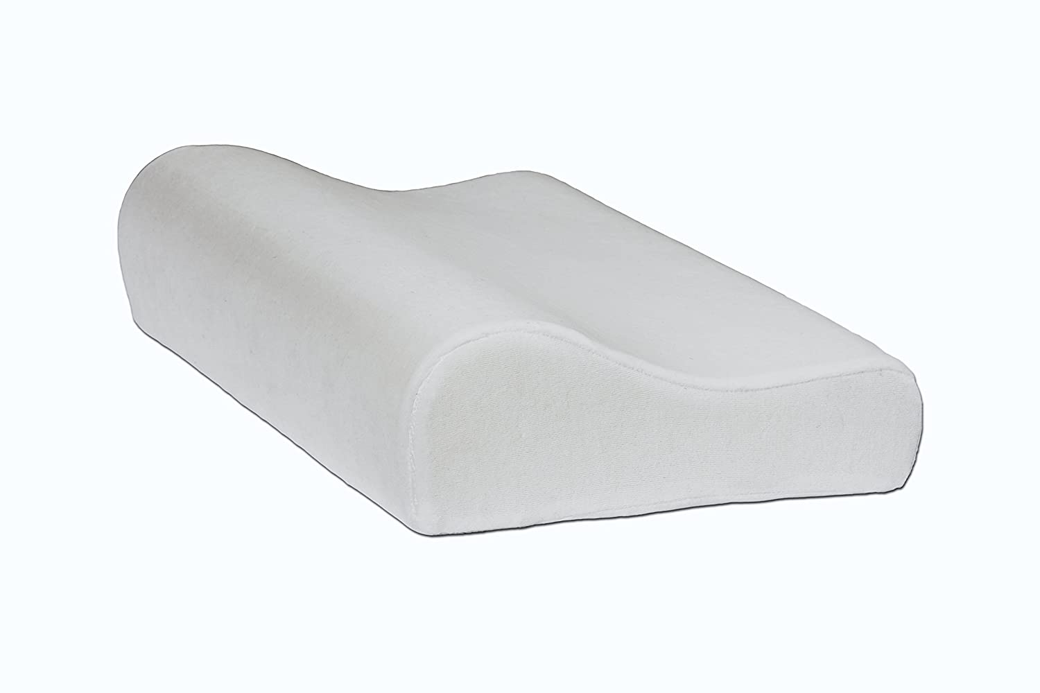 Contour Memory Foam Pillow With White Washable Cover - For Back And Side Sleepers Against Cervical Pain Shoulder Pain and Sore Neck, Size 49 Cm X 30 Cm X 10 Cm (19.7