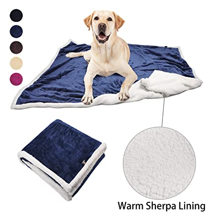 ea3a4d728c8c9 Large Dog Blanket,Super Soft Warm Sherpa Fleece Plush Dog Blankets and  Throws for Large Medium Dogs Puppy Doggy Pet Cats,60