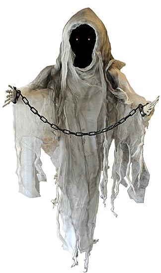 Halloween Gruselige Marionetten Geist Mit Rot Glühenden Augen Die