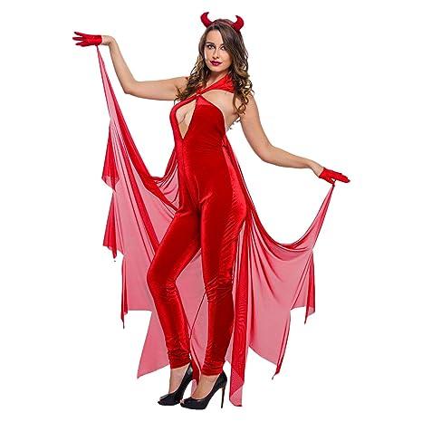 Toocool - Costume carnevale vestito Diavolo DIAVOLETTA donna Halloween  party DL-1981  M 86a5569406ce