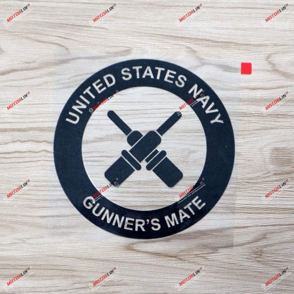 3S MOTORLINE Black 6 Gunners Mate Decal Sticker Car Vinyl die-Cut no bkgrd