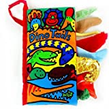 Kfnire Animal Tails Cloth book Baby Toy Cloth Development Books Learning & Education books Christmas Gift (Dino Tails)