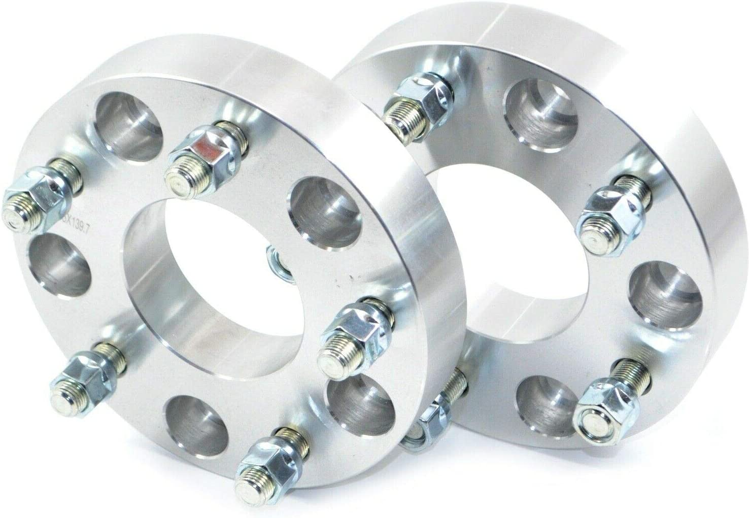 5 x 139.7 9//16-18 UNF Wheel Spacer Lot de 2 /élargisseurs de voie en aluminium 34 mm RAM 1500 2002
