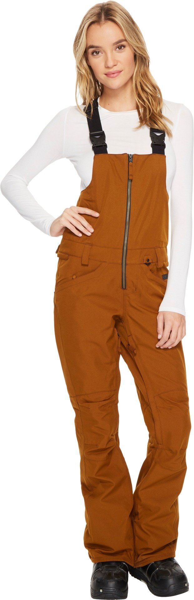 Volcom Snow Women's Verdi Bib Overalls Copper Small by Volcom