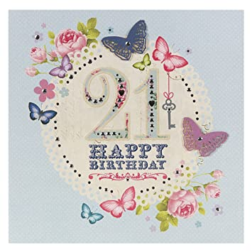 Hallmark 21st Birthday Card For Her Congratulations Large Square