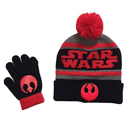 99ef78f3f Amazon.com: Star Wars Boys Rebel Alliance Winter Beanie Hat & Gloves ...