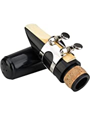 Glory Clarinet Mouthpiece Kit with Ligature,one Reed and Plastic Cap~black, Click to See More Colors