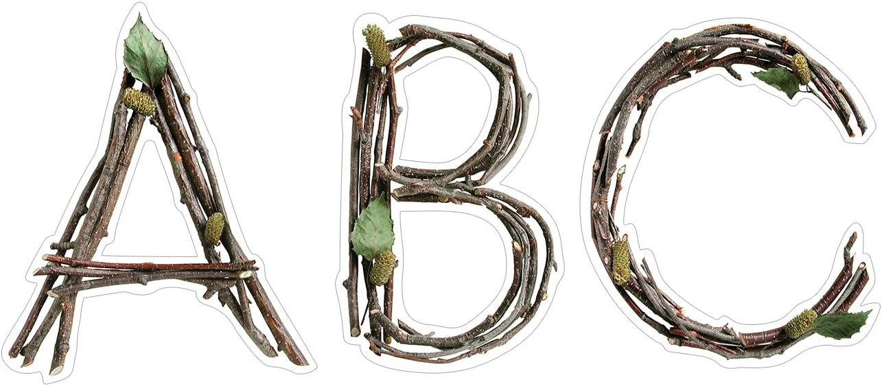 "Creative Teaching Rustic Twigs 6"" Designer Letters (Accent Party Signs, Doors, Rooms, and Offices)"