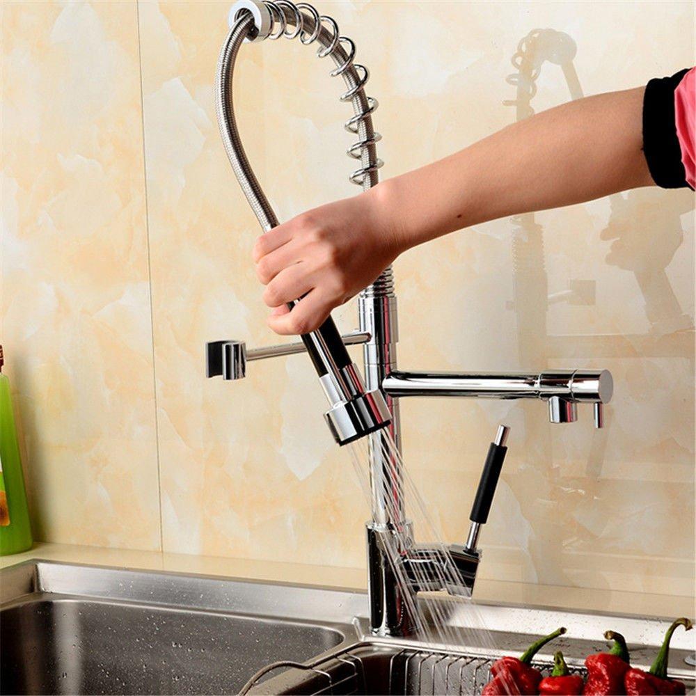 Good quality Antiquitäten Becken Spül Mischer Tap Moderne Badezimmer Verkupferung Waschbecken Wasserhahn Frühling Typ Küche heiß und kalt Mischventil Waschbecken Mischbatterie drehbare Düse