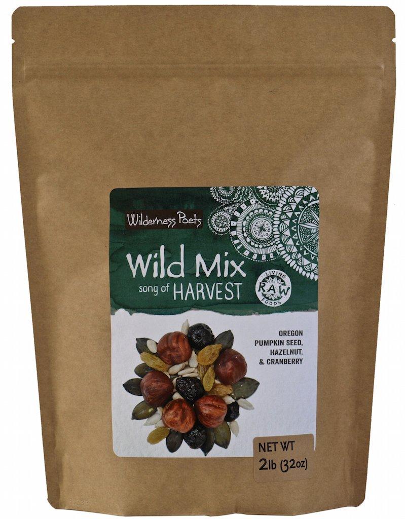 Wilderness Poets, Song of Harvest Wild Mix - Hazelnut, Pumpkin Seed, Cranberry, Golden Raisins, Sunflower Seeds - Bulk Raw trail Mix, 2 Pound (32 Ounce)
