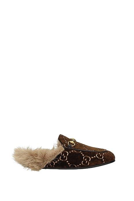 Zapatillas y Zuecos Gucci Mujer - Velvet (4486579JT10) EU: Amazon.es: Zapatos y complementos