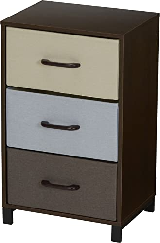 Household Essentials 8013-1 Wooden 3 Drawer Dresser