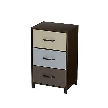 Household Essentials 8013 1 3 Drawer Modular Storage Chest Stand U2013 Dark  Brown