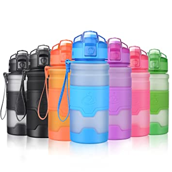 Grsta Botella de Agua Deportiva - 400ml/14oz - sin BPA & a Prueba de