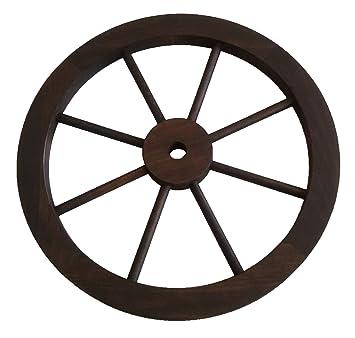 Rueda de carreta de madera de 45 cm de diámetro: Amazon.es: Jardín