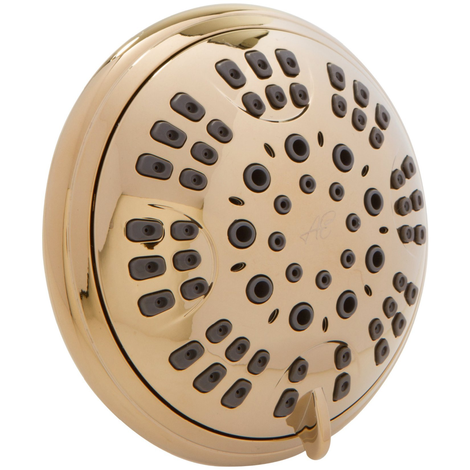 6 Function Luxury Shower Head - Amazing High Pressure, Wall Mount, Adjustable Showerhead - Indoor And Outdoor Modern Bath Spa Fixture - Aqua Elegante - Polished Brass