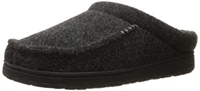 98174561609b33 Dearfoams Mens Memory Foam Slippers- Black