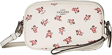 COACH Women s Crossbody Clutch with Floral Bloom Print Sv Chalk Floral  Bloom One Size d4302fd438475