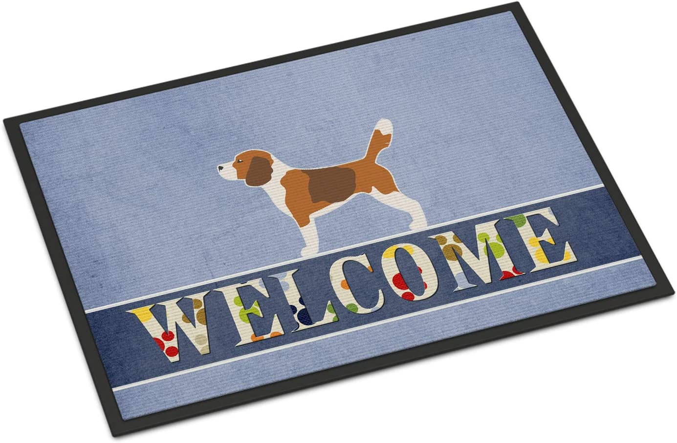 Caroline s Treasures BB5514MAT Beagle Welcome Indoor or Outdoor Mat 18×27, 18H X 27W, Multicolor
