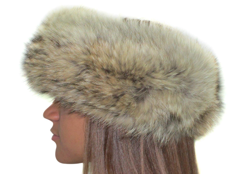 Natural Coyote Headband by FursNewYork