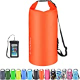 OMGear Waterproof Dry Bag Backpack Waterproof Phone Pouch 40L/30L/20L/10L/5L Floating Dry Sack for Kayaking Boating Sailing C