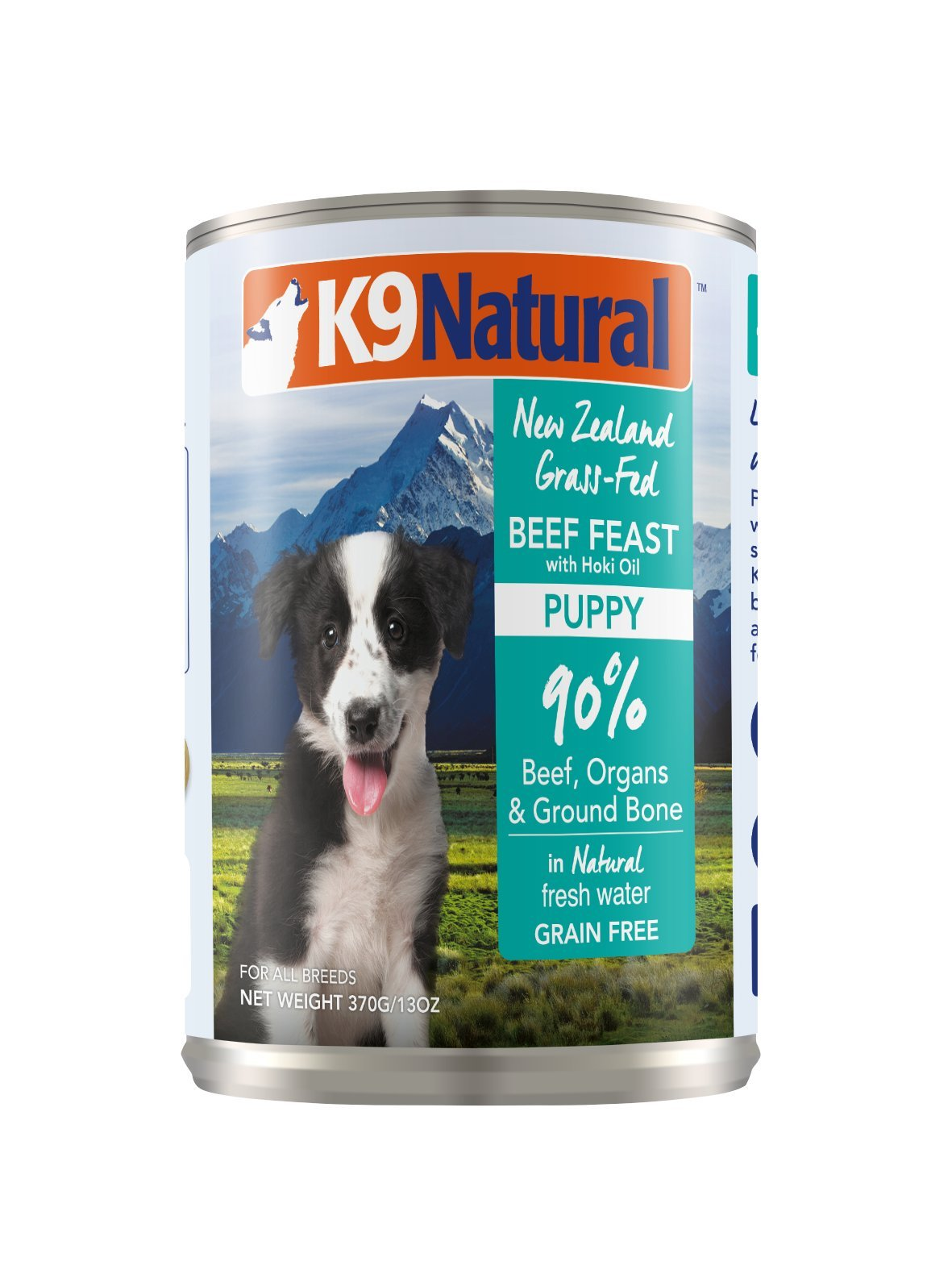K9 Natural Canned Puppy Food Perfect Grain Free, Healthy, Hypoallergenic Limited Ingredients All Puppy Types - BPA-Free Wet Puppy Food - Beef & Hoki Oil Flavour - 13oz (12 Pack) by K9 Natural