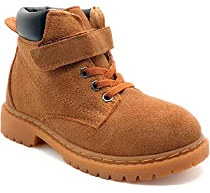 Boy s Girl s Winter Snow Boots Warm Fur Lined Leather Martin Ankle Flat  Booties Shoes (Toddler 63831cf47172
