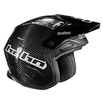 HEBO Trial Zone 4 Carbon Casco, Negro, Talla XS