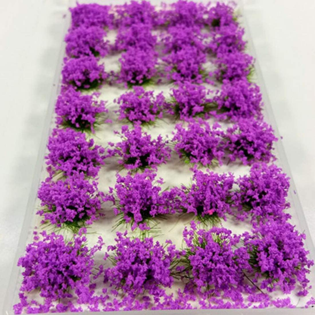 OVERWELL 8mm Self-adhesive Static Grass Flower Tufts x 28 Railway Modelling
